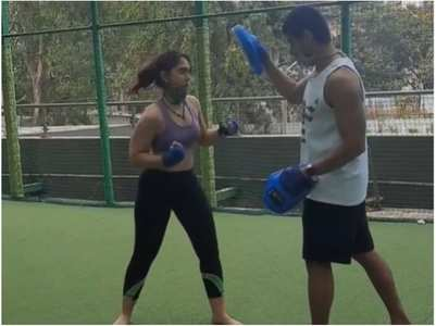 Ira Khan's kickboxing class with BF Nupur