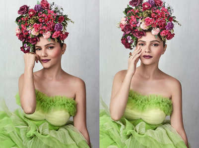 Rubina Dilaik gives Frida Kahlo vibes in tulle gown