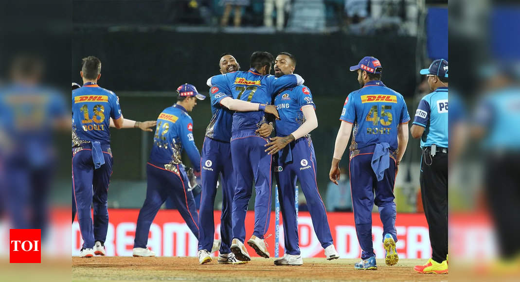 IPL 2021: Mumbai Indians stun Kolkata Knight Riders by 10 runs | Cricket News – Times of India