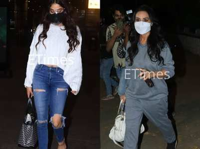 Pap diary: Janhvi at airport, Preity in city