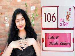 Singer Indu Nagaraj welcomes baby girl