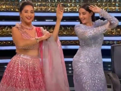 Nora and Madhuri Dixit dance together, watch