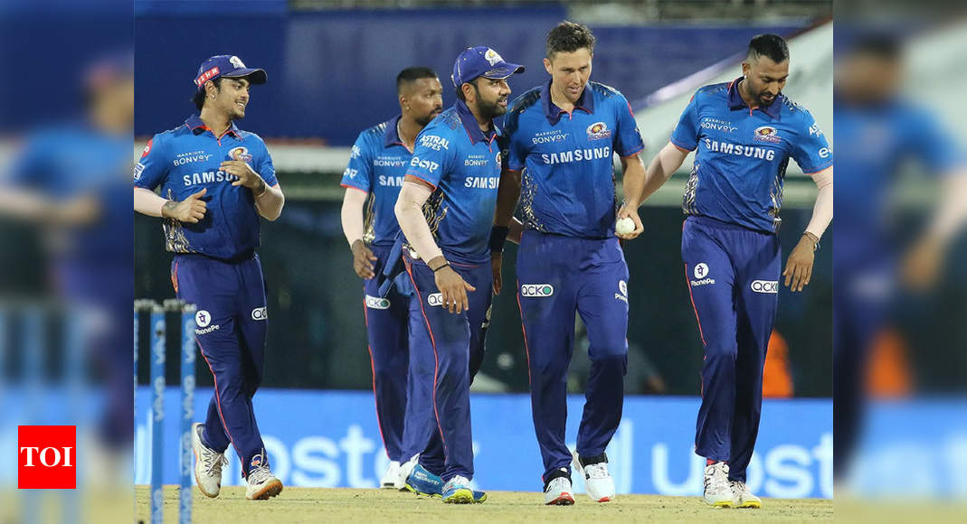 IPL 2021: Sehwag's Insta gift to MI for their improbable win over KKR | Cricket News – Times of India