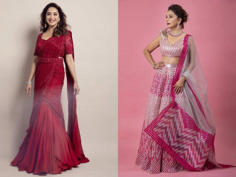 Madhuri Dixit in a sari or a lehenga: Which is your favourite look?