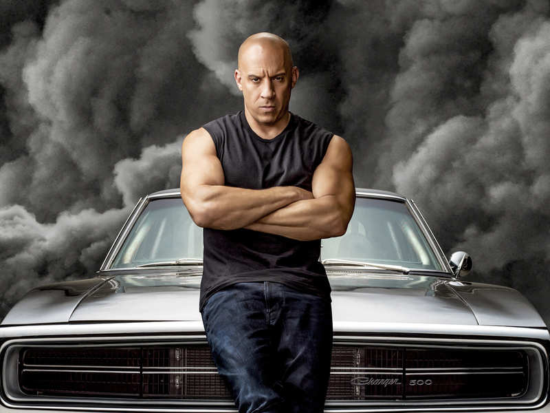 Vin Diesel in a promotional still from the upcoming action film 'Fast & Furious 9', stylised as 'F9'