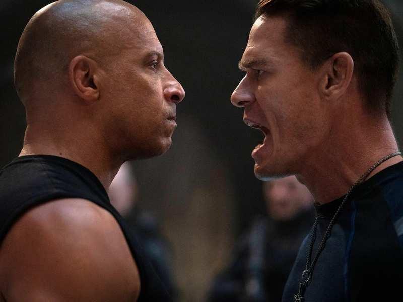 Vin Diesel and John Cena in a still from 'F9'