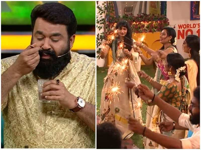 Bigg Boss Malayalam 3: Contestants have a blast with host Mohanlal on Vishu