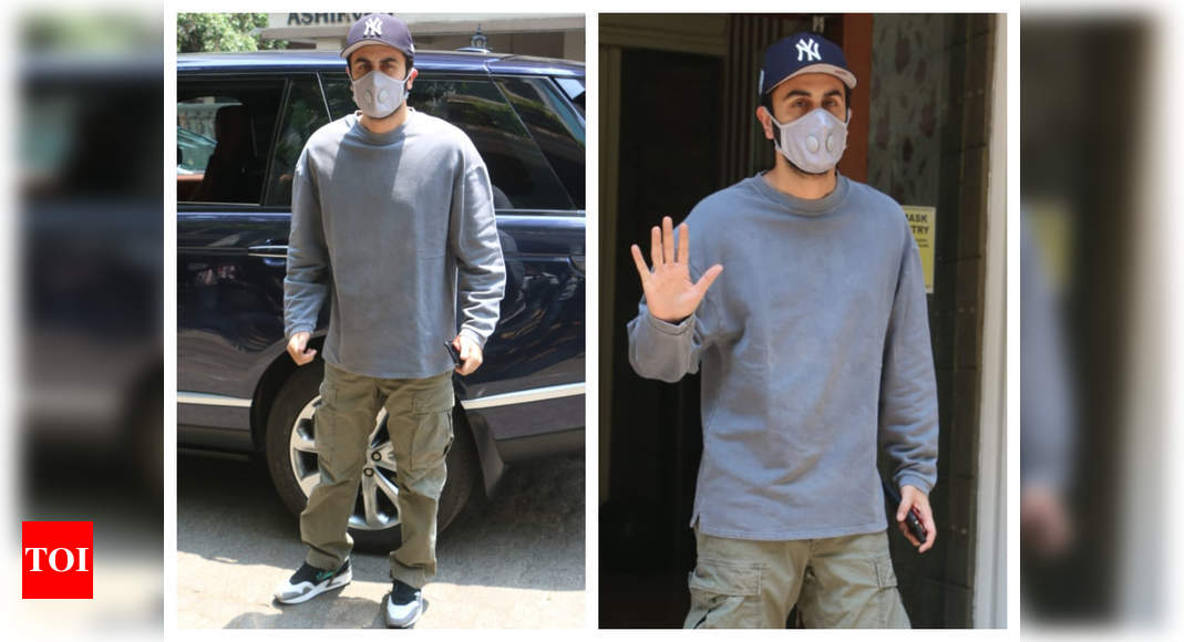 Ranbir gets snapped outside a clinic