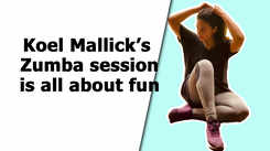 Koel Mallick's Zumba session is all about fun