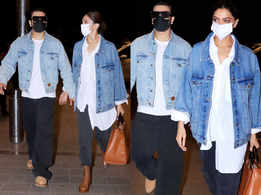 Deepika and Ranveer twin at the airport