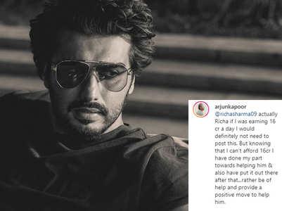 Arjun Kapoor slams a social media troll
