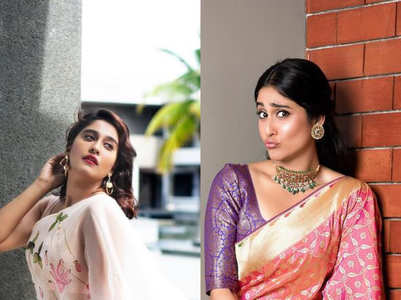 Best sari looks of Regina Cassandra