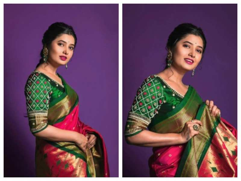 Prajakta Mali is a sight to behold in this multi-coloured saree; see pics