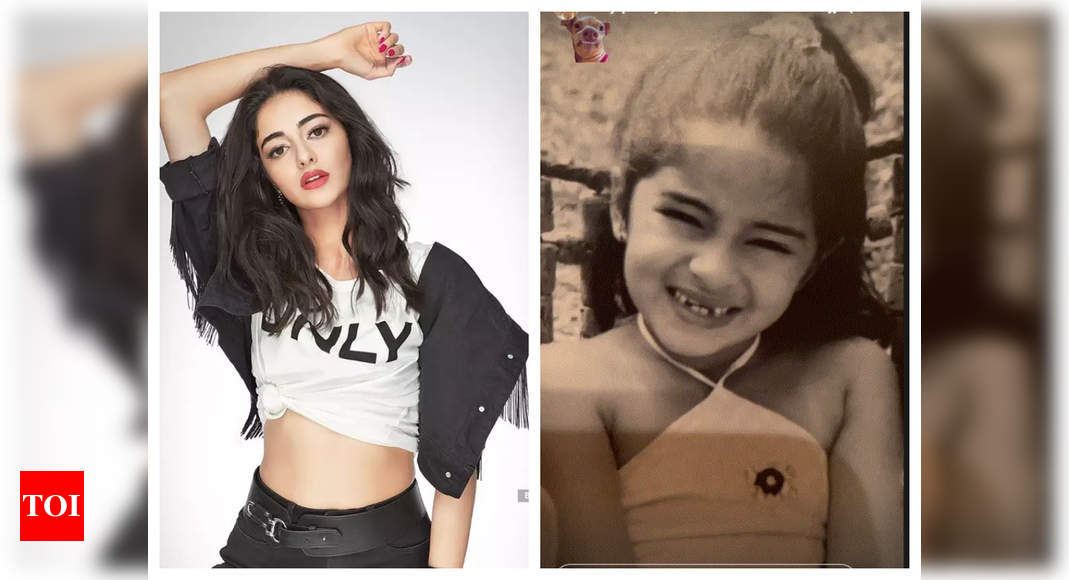 Ananya Panday shares a childhood picture of herself recalling the time when she lost her milk teeth and we all can relate to it – Times of India