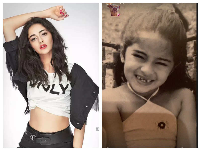 Ananya Panday shares a childhood picture of herself recalling the time when she lost her milk teeth and we all can relate to it
