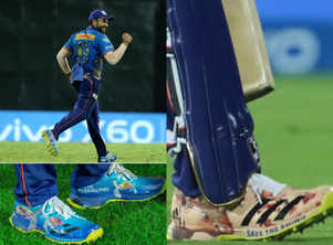 Rohit Sharma's shoes have a message