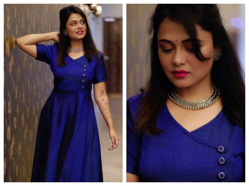 Prarthana Behere looks breathtakingly beautiful in this blue dress; see pics