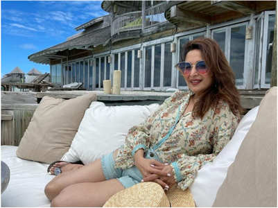 Madhuri shares a pic from her beach vacay