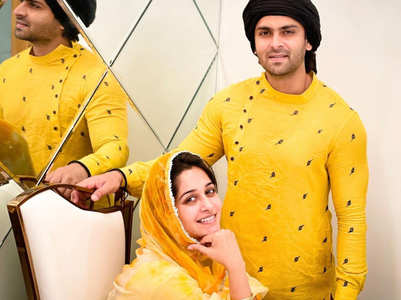 Dipika -Shoaib twin in yellow during Ramadan