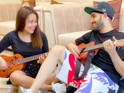 Neha-Rohanpreet enjoy jamming sessions; pics