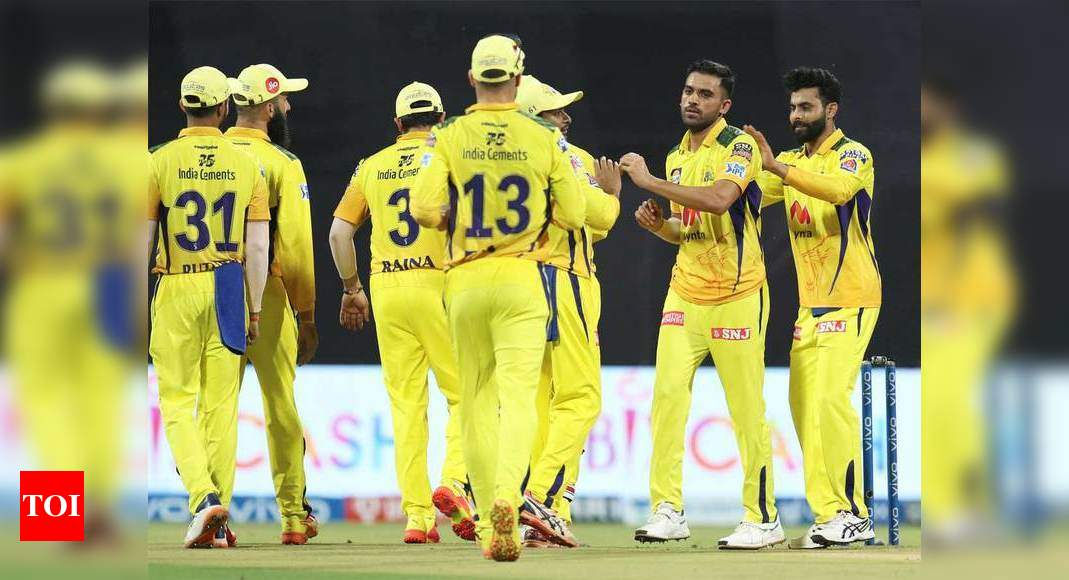 IPL 2021, PBKS vs CSK: Deepak Chahar's four-for guides CSK to 6-wicket win over Punjab Kings | Cricket News – Times of India