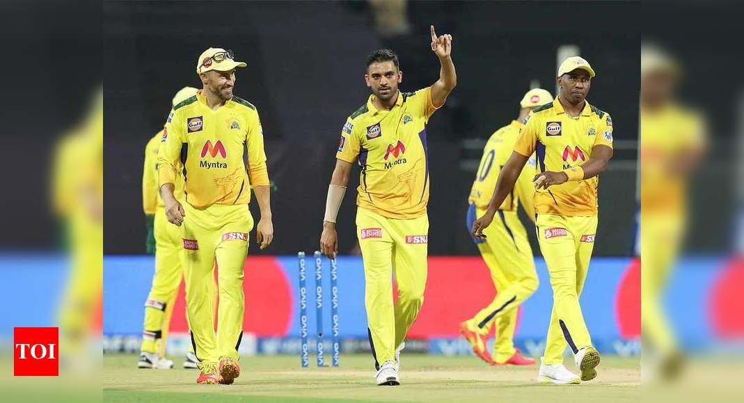 IPL 2021, CSK vs PBKS: Deepak Chahar's strikes ensure Chennai Super Kings'  easy victory over Punjab Kings | Cricket News - Times of India
