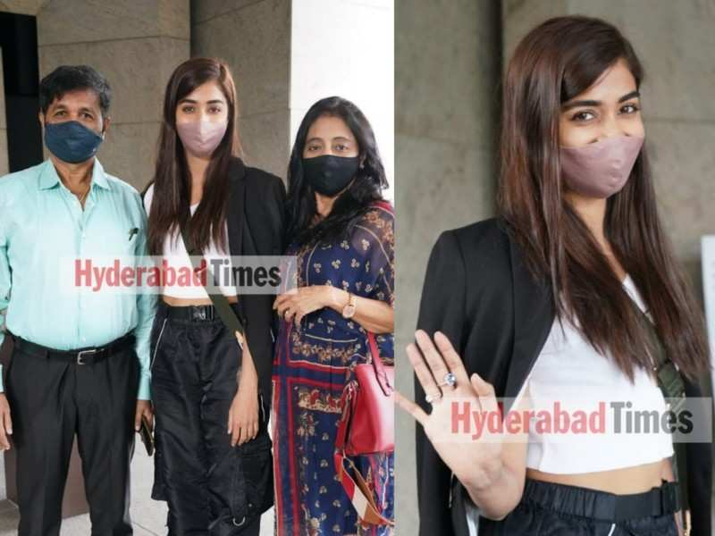 Pooja Hegde celebrates her father's birthday in Hyderabad