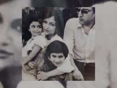 RARE CLICKS! Saif, Soha & Saba with parents