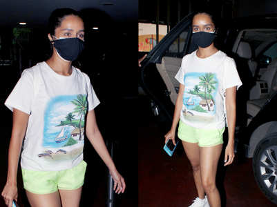 Shraddha flaunts her holiday tan in neon shorts