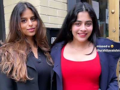 Suhana shares a pretty pic with her friend