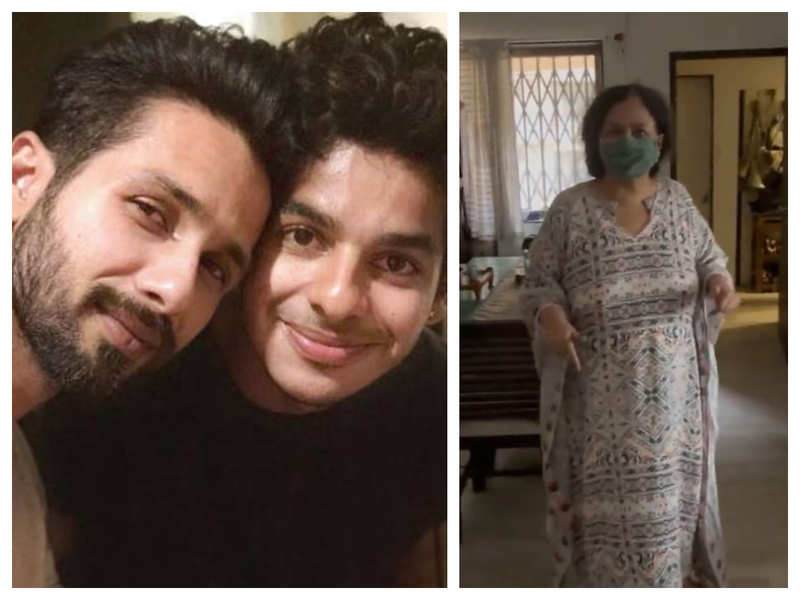 Shahid Kapoor comments on Ishaan Khatter's video of their mother Neelima Azim throwing tantrums over chocolate
