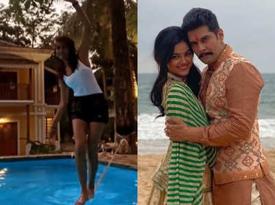 TV celebs have fun at their outdoor shoot