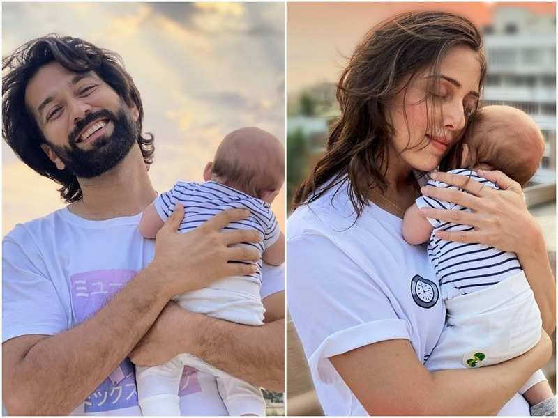 Nakuul Mehta's wife Jankee pens a note on how their two-month-old son Sufi was diagnosed with bilateral inguinal hernia and how she prepared him for surgery - Times of India