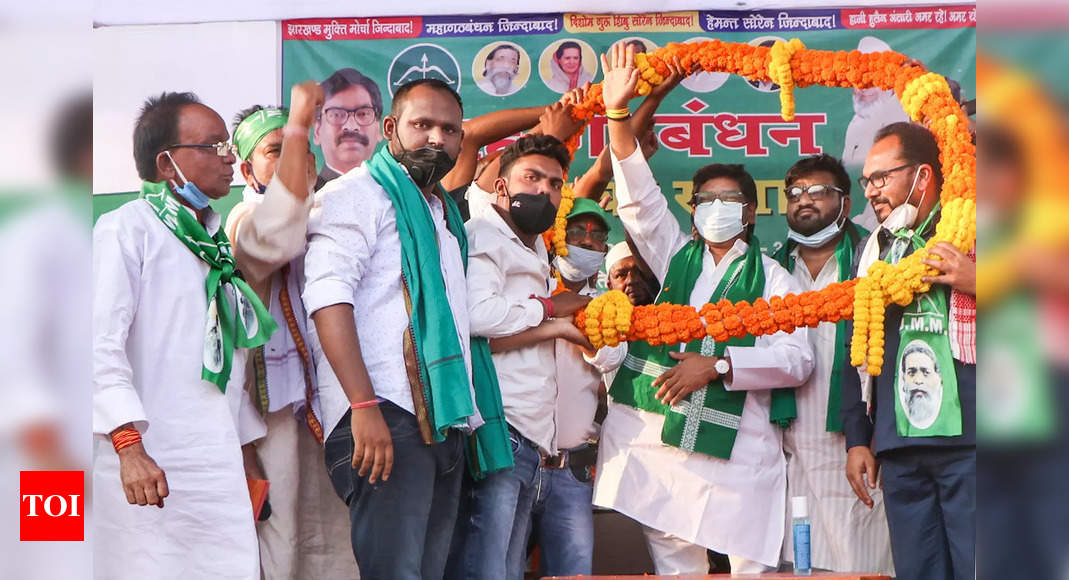 JMM first party to declare name of donor who made contribution through electoral bonds | India News – Times of India