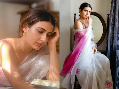 Fatima Sana Shaikh's flamingo sari is