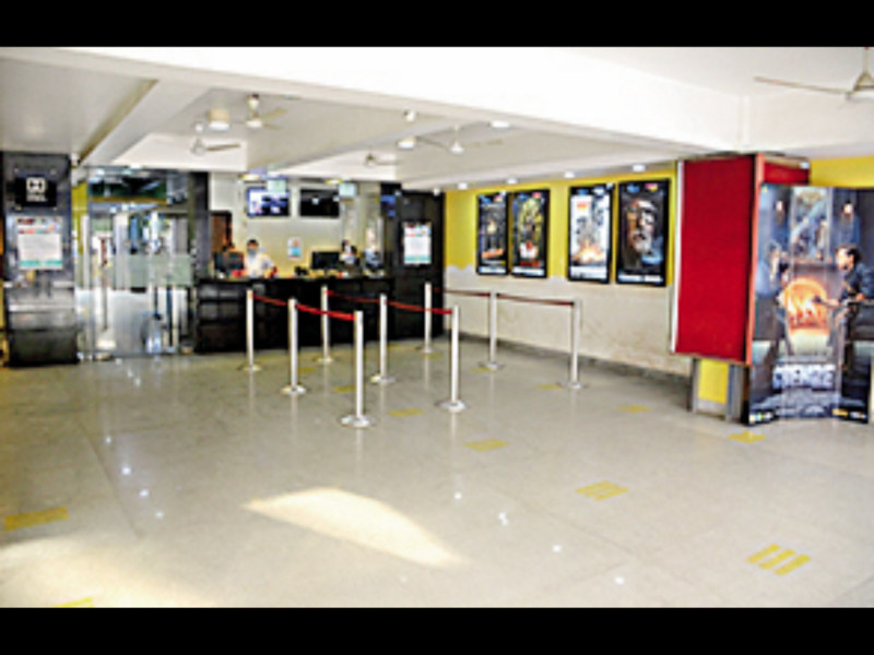 A cinema hall wears deserted look