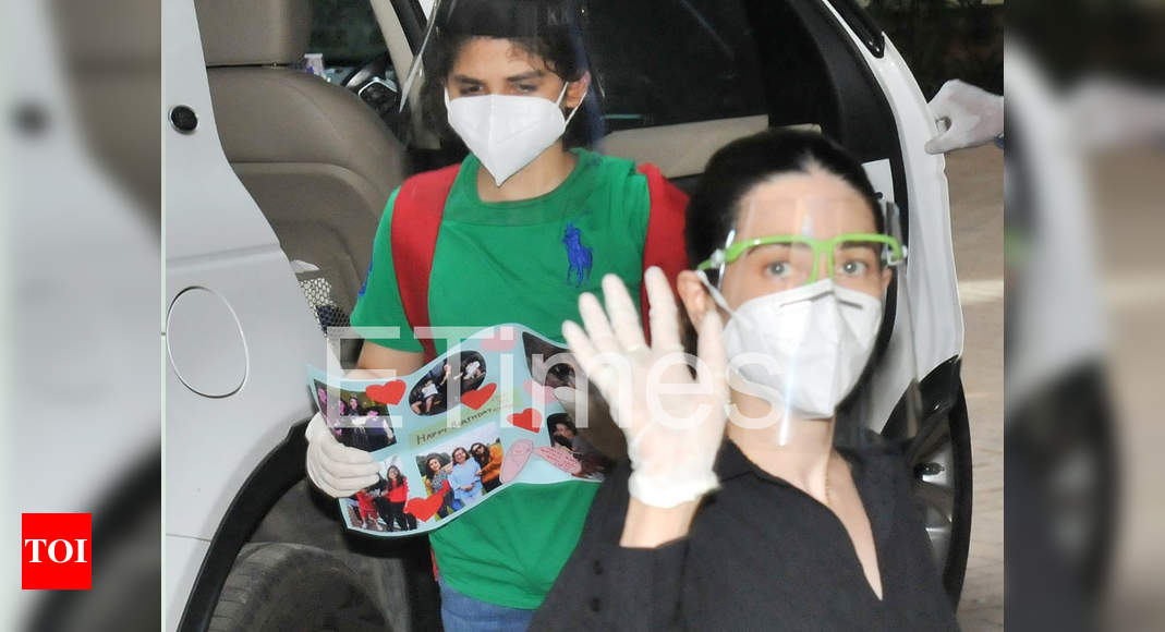Karishma's son makes a card for Babita
