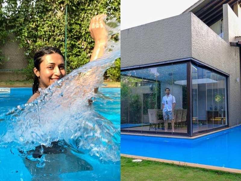 Divyanka Tripathi and Vivek Dahiya take a splash in the pool on their vacation; see photos
