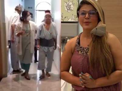 Rakhi jokes about mom's 'catwalk in hospital'