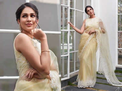 Lavanya Tripathi's yellow sari is perfect for summers