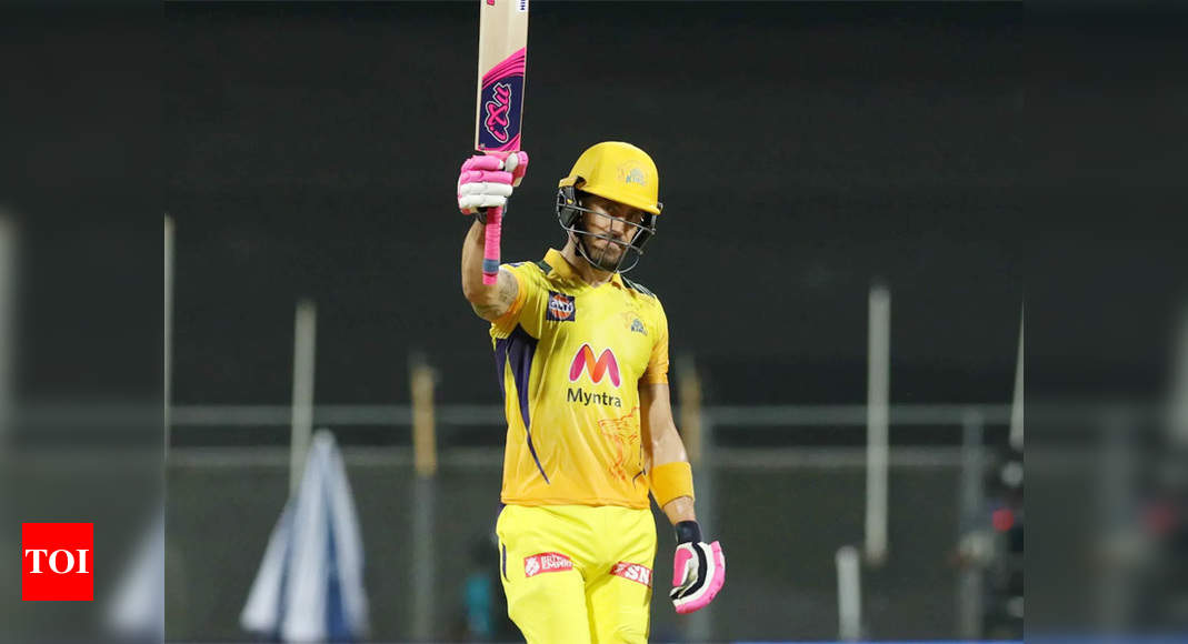 IPL: Du Plessis, Gaikwad 50s power CSK to 220/3 against KKR