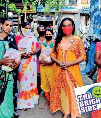 Transgenders sell face masks to raise funds