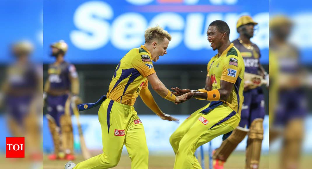 ipl 2021: IPL 2021, CSK vs KKR: Chennai keep charging Kolkata at bay | Cricket News – Times of India