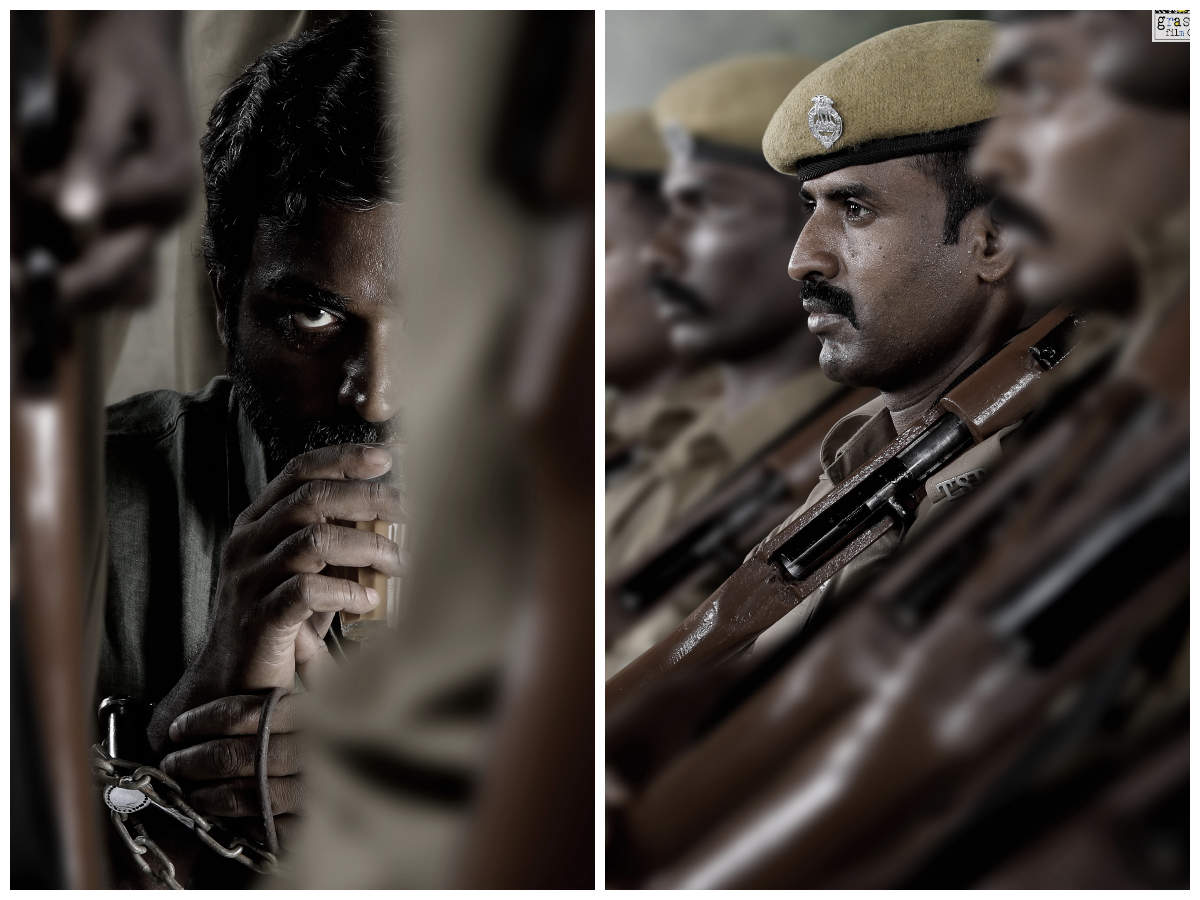 Soori and Vijay Sethupathi's first look posters of Vetri Maaran's ' Viduthalai' is out | Tamil Movie News - Times of India