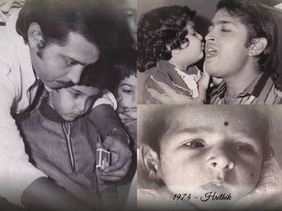 Pinkie shares Hrithik's childhood pictures