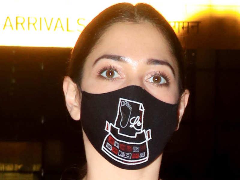 Tamannaah Bhatia's 'Foot Le' mask is too cool for school