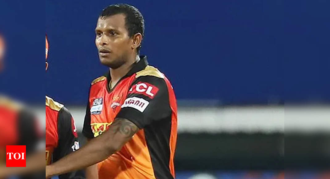 IPL 2021: Sunrisers Hyderabad pacer Natarajan ruled out of tournament   Cricket News – Times of India