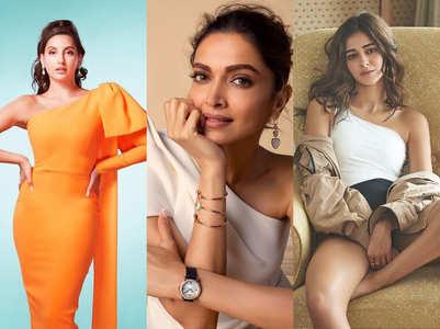 Celebrities warm up to one-shoulder trend