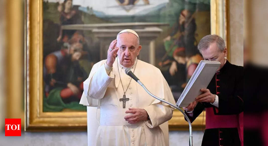 Pope warns Earth heading for self-destruction without action – Times of India