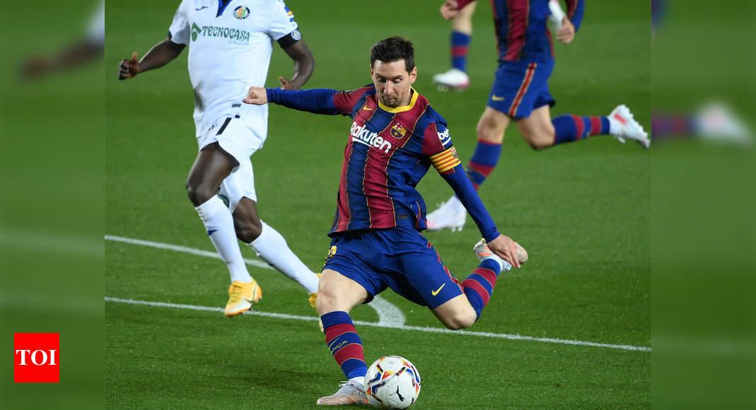 Messi double powers Barcelona to big win over Getafe